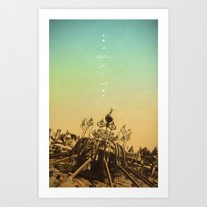 The Happiest Place On Earth Art Print