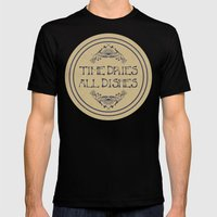 Time Dries All Dishes Mens Fitted Tee Black SMALL