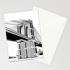 Brooklyn Bridge Black and White Stationery Cards