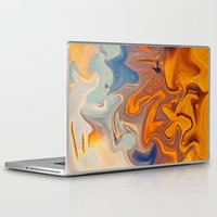 Laptop & iPad Skin featuring SKY ON FIRE by Catspaws