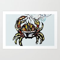 BEWARE :crabs In Underwe… Art Print