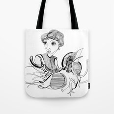Woman On Bird Tote Bag