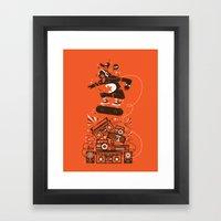 Skate and music Framed Art Print