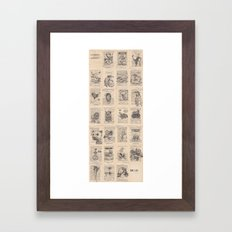 The Dead Alphabet Framed Art Print