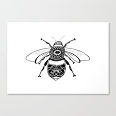 Bee in Ink Canvas Print