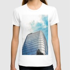 Big Building Womens Fitted Tee White SMALL