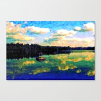 The Giant's Steps On The Lake - Painting Style Canvas Print