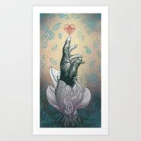 Reach your heart Art Print