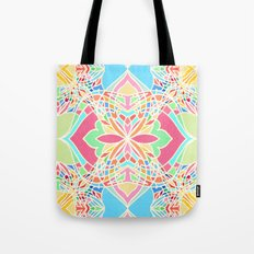 Moroccan Inspired Bright Pastel Doodle Design Tote Bag