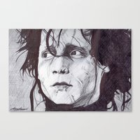 Canvas Print featuring Edward Scissorhands   by DeMoose_Art