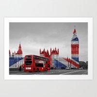 Red London Bus And Big B… Art Print