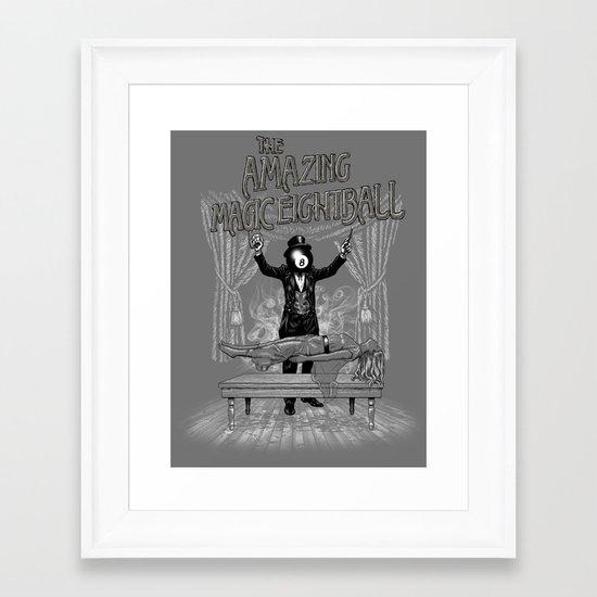 The Amazing Magic Eightball Framed Art Print