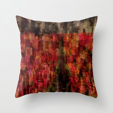 Field of Tulips Mosaic Throw Pillow