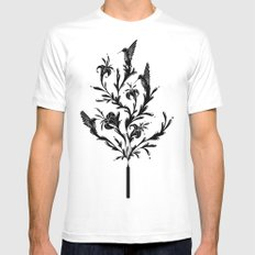 Fluid Bloom White SMALL Mens Fitted Tee