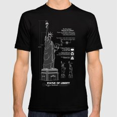 Statue of Liberty Mens Fitted Tee Black SMALL