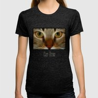 Cat Womens Fitted Tee Tri-Black SMALL