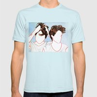Tegan and Sara Mens Fitted Tee Light Blue SMALL
