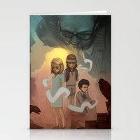 wes anderson Stationery Cards featuring Wes Andersons - A Bad Dad by Dave Greco