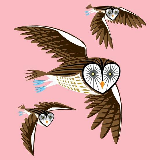 Owls On The Prowl Art Print