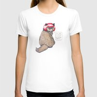 Cat Style Womens Fitted Tee White SMALL