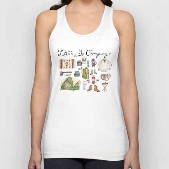 Let's Go Camping Unisex Tank Top