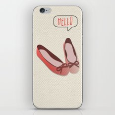 Hello Red Flat Shoes iPhone & iPod Skin