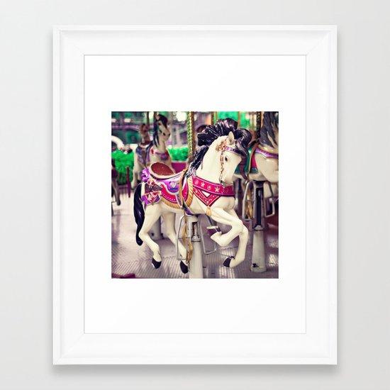 Floating Horse Framed Art Print