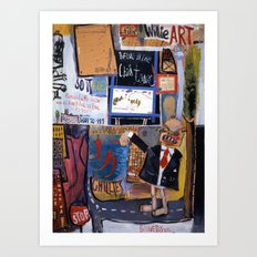chilling out in chilltown Art Print