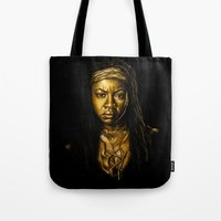 Michonne Golden Tote Bag