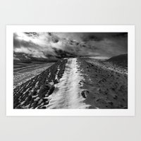Snow Path Art Print