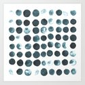 Faded dots Art Print