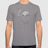 The Swan  Mens Fitted Tee Tri-Grey SMALL