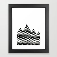 Triangle Peaks Framed Art Print