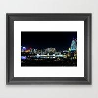 Sydney Night Skyline Framed Art Print