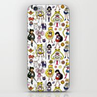 Sailor Senshi Doodle iPhone & iPod Skin