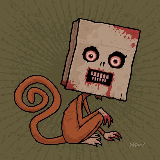 Psycho Sack Monkey Art Print