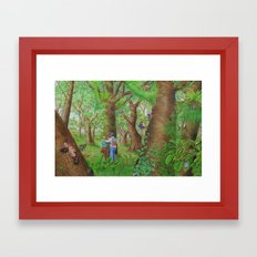 A Day of Forest (3). (Observe the tree) Framed Art Print