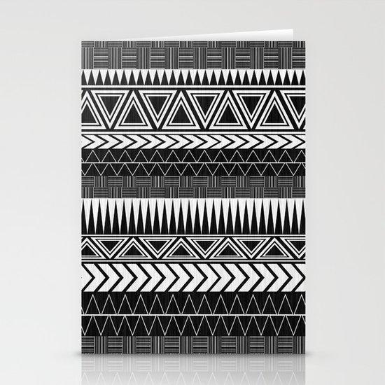 Tribal Monochrome. Stationery Card