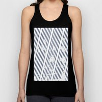 Grunge Blue stripes on white background illustration Unisex Tank Top