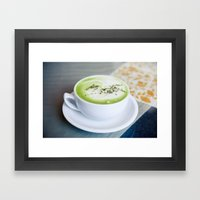 Matcha Framed Art Print