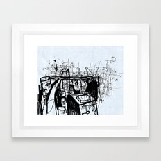 City Study Framed Art Print