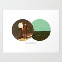 Boring By The Sea   Coll… Art Print