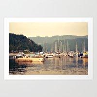 deep cove harbor Art Print
