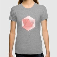 spatial geometry Womens Fitted Tee Tri-Grey SMALL