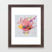 the bird-world Framed Art Print