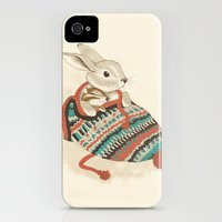 iPhone Cases featuring cozy chipmunk by Laura Graves