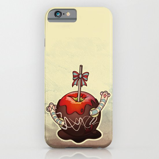SWEET WORMS 2 - caramel apple iPhone & iPod Case