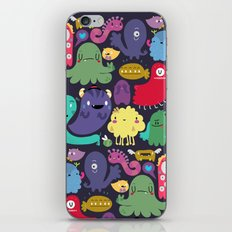 Colorful creatures iPhone & iPod Skin