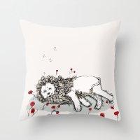 Cowardly Lion Throw Pillow