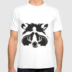 raccoon  Mens Fitted Tee SMALL White